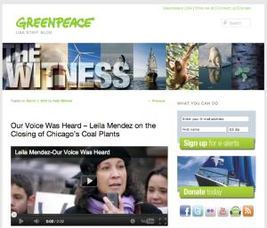 Greenpeace blog