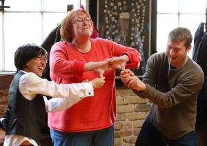 Good laughs at improv practice