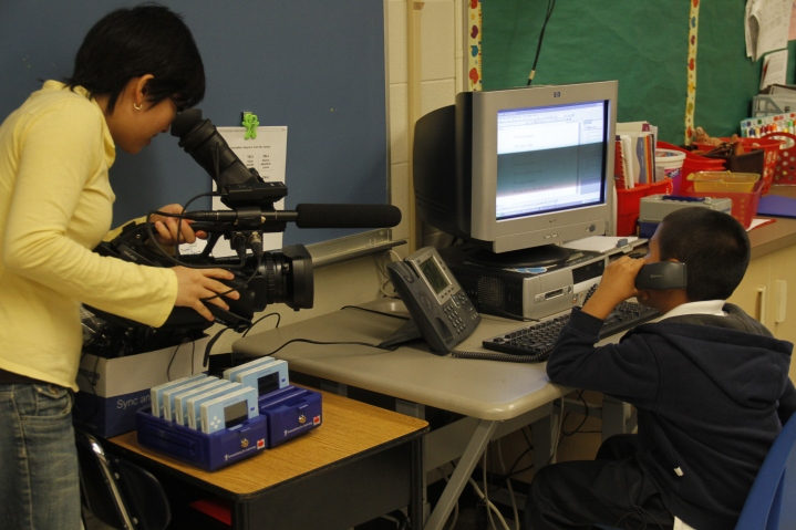 Filming for an educational non-profit organization